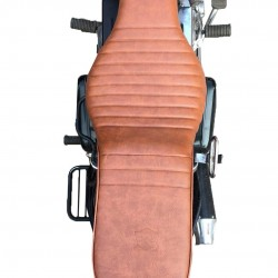 Royal Enfield Bullet Electra/Standard 350/500 Seat Cover Type (Tan) Original Type Complete Seat Assembly Only For Electra